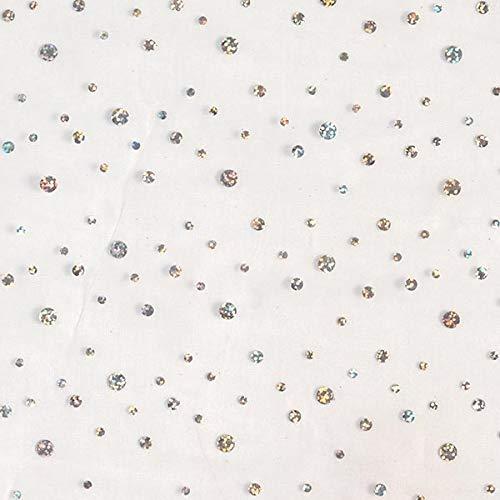 Fabulous Fabrics Organza weiß, 140 cm breit – Organza zum Nähen von Brautmode, Tischdecken und Vorhängen – Meterware erhältlich ab 0,5 m