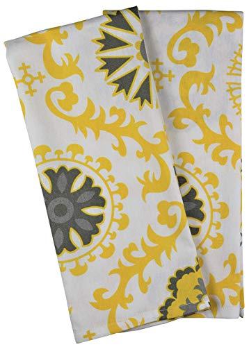 Crabtree Collection Gris/Amarillo medallón toallas