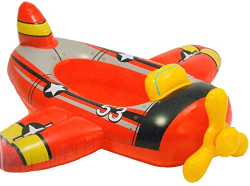 Kids Inflatable Ride On Swimming Pool Red Plane Inflatable Boat