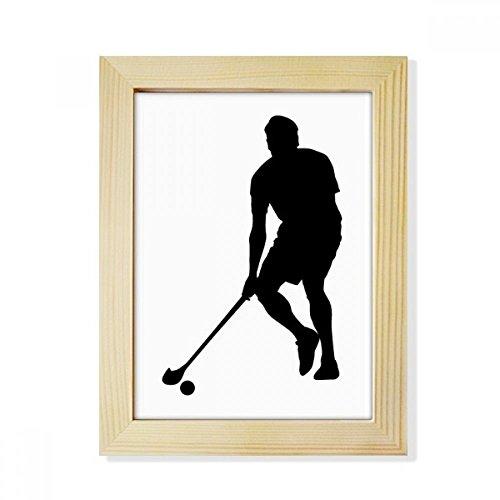 DIYthinker Physical EduKatzeion Hockey-Sport-laufende Desktop-HÖlz-Bilderrahmen Fotokunst-Malerei Passend 15.2 x 20.2cm (6 x 8 Zoll) Bild Mehrfarbig