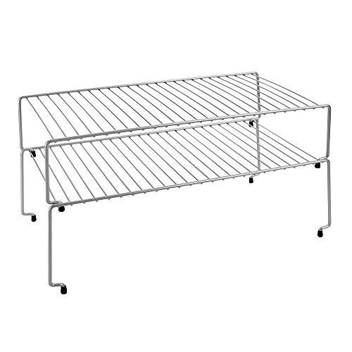Metaltex Estantes para armarios de Cocina, Gris Metalizado, 47 x 23 x 26 cm
