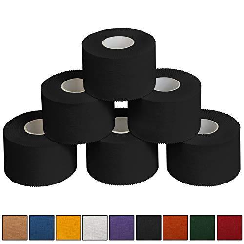 ALPIDEX 6 x Sport-Tape 3,8 cm x 10 m, Farbe:schwarz