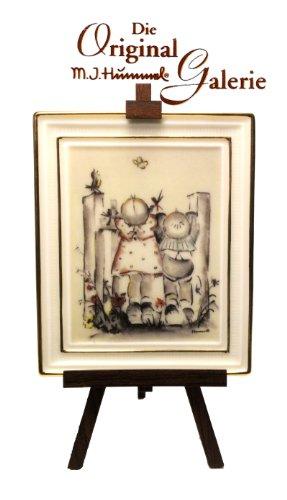 M. J. Hummel Gallery The Original drüben ** 350005 * Handbemalt, Porzelan Bild mit Staffelei