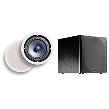 Polk Audio RC80i In-Ceiling Speakers with PSW505 Powered Subwoofer