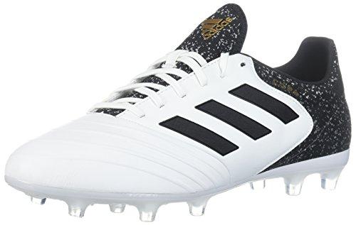 adidas Men's Copa 18.2 FG Soccer Shoe, White/Core Black/Tactile Gold, 9.5 M US