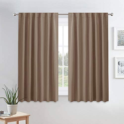 PONY DANCE Thermal Blackout Curtains Short Length Curtain Draperies Thermal Insulated Curtain product image