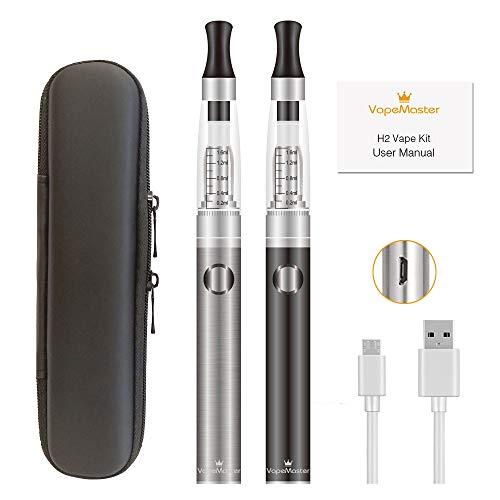 Sigaretta elettronica svapo kit completo - VapeMaster H2 Kit - doppia penna vape, cartuccia facile da ricaricare, batteria a lunga durata, gusto puro - Nessun prodotto, senza nicotina