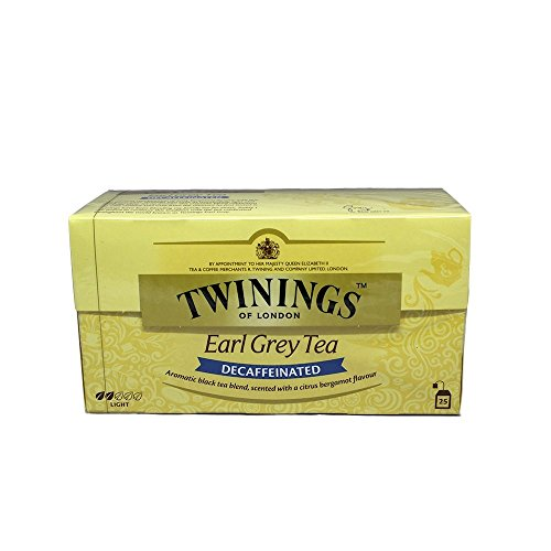 Twinings Of London Té Earl Grey Descafeinado - 25 Bolsitas