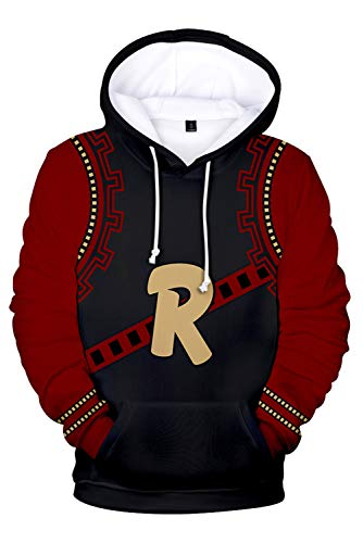 NoveltyBoy Boku No Hero Academia Kirishima Eijiro Hoodie Pullover Sweatshirt Long Sleeve Outfit Cosplay Costume Red