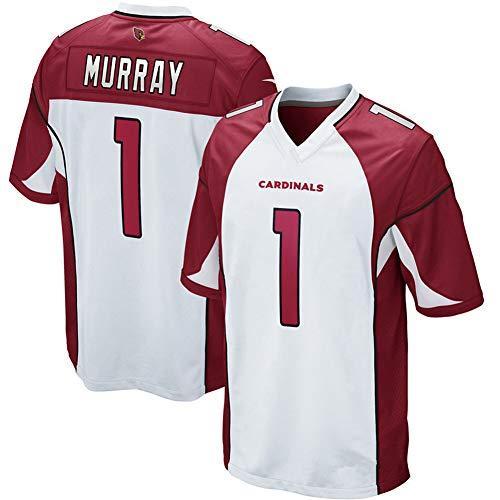 Murray Cardinals Herren Rugby-Trikot #1 für Retro Gym Sport Top Rugby American Football Trikot, 123, weiß, XL(85~95KG)