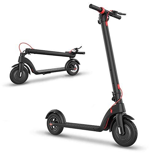 FUJGYLGL Adulto Scooter eléctrico, batería de Gran Capacidad, Fuerte Capacidad de Carga, Resistencia Fuerte, con función de iluminación, Fuerte Rendimiento de frenado