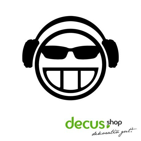Decus Headphones koptelefoon Smiley // sticker OEM JDM Style sticker