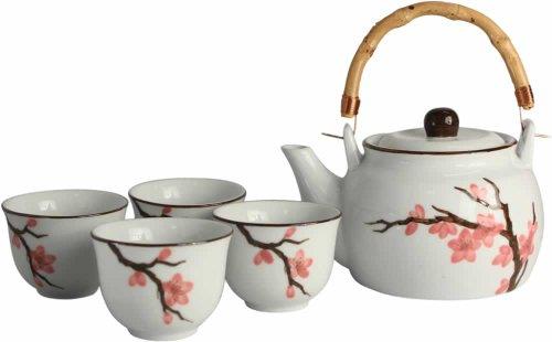 [ SAKURA ] 5 teiliges Tee-Service / Teeservice / Geschenkverpackung