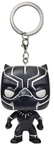 Funko- Civil War Pocket Pop Keychain Captain America CW Black Panther, 9514-PDQ