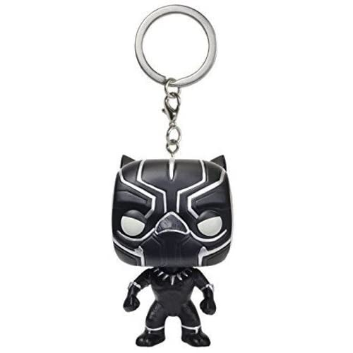 Funko- Civil War Pocket Pop Keychain Captain America CW Black Panther, 9514-PDQ