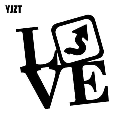 JYHW 13 CM * 13 CM Maravilloso Amor TWISTIES Letras Etiqueta Engomada del Coche Calcomanía Negro Plata Vinilo C11-1394 Plata