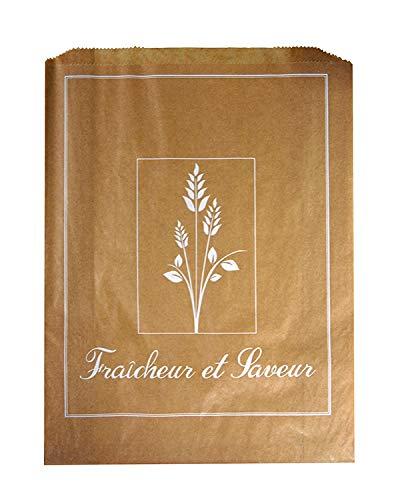 FaisTonGateau - Lot de 1000 sacs croissant kraft N°6-1000 sachets kraft brun