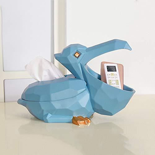 Multifunktionale Gewebe Aufbewahrungsbox Kreative Tier Vogel Harz Serviette Papier Handtuchhalter Desktop Luxus Dekorative Ornamente Für Hotel Cafe Wohnzimmer Club House