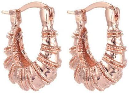 Awesome New Rose Gold Plated 3/4'' U-Hoop Hoop Earrings
