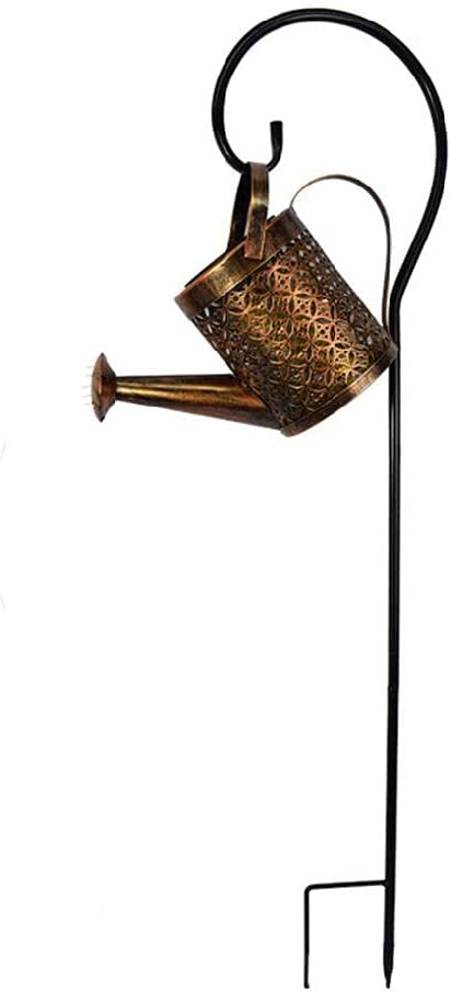 TPTPMAY Wrought Iron Hollow Out Safety and trust Waterin Lamp Metal Solar Cheap bargain Powered