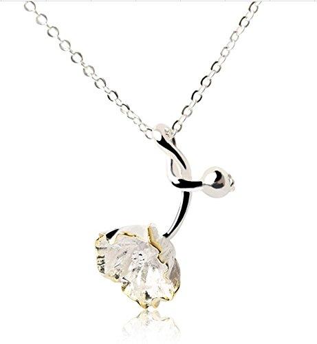Helen de Lete 3D Poppy Flower Sterling Silver Choker Necklace (Goldtone)