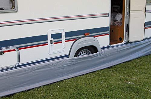 Eurotrail Vorzelt-Erdstreifen für Wohnwagen, 500x 60cm, grau, universell