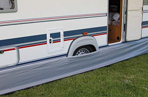 Faldón de calado de toldo para caravana, de Eurotrail, 500x 60cm, gris, universal