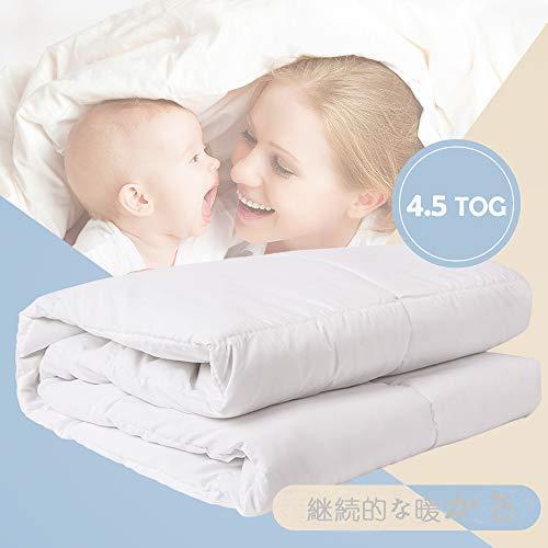 i-baby Couette Enfant Couette 120 x 150 cm Enfant Bébé Duvet Legere 4.5 TOG Parure de Lit Douce et Chaude pour Lit Bébé et Enfant (Couette)