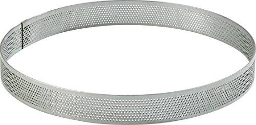 Cuisineonly - Cerchio in acciaio inox forato, ø 20 cm, altezza 2 cm, lineaCucina:articolo da pasticceria (cerchi in acciaio inox, stampi)