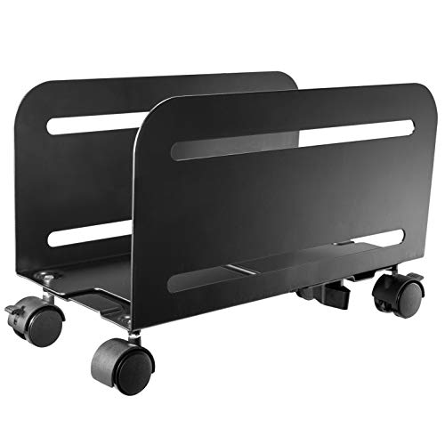 HumanCentric PC Stand – Computer Tower and CPU Stand Cart | Adjustable and Mobile PC Holder with Wheels