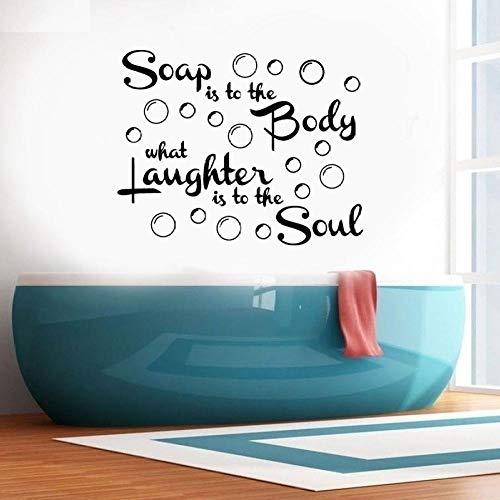 Zeep is om het lichaam met bubbels citaten Vinyl Muursticker Verwijderbare muurstickers behang voor badkamer douche kamer