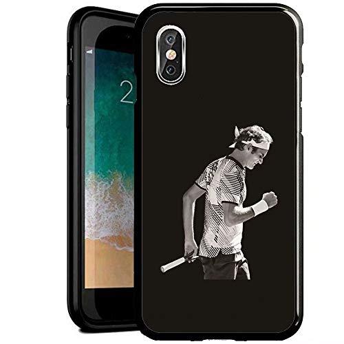 RY Progettato per Cover iPhone 7/iPhone 8,Antiurto AntiGraffio Nero Vetro temperato Cabina telefonica [ZXG400019]