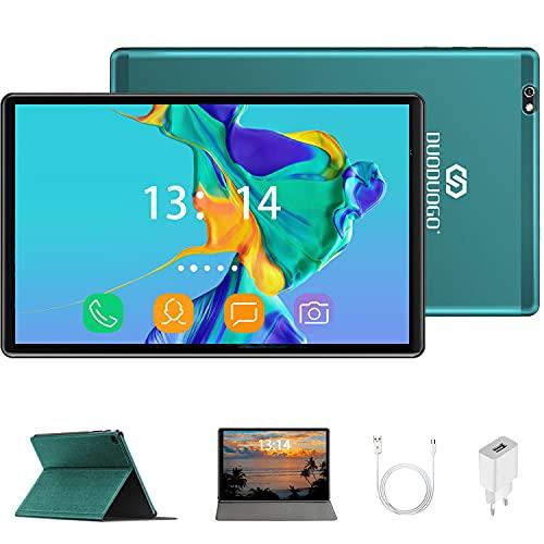 Tablet 10 Pulgadas HD IPS, DUODUOGO 4GB de RAM y 64 GB de Memoria 4G LTE Tableta Android 10.0 Certificado por Google GMS Soporte 5+8 MP, Disney +, Netfilix, Dobles SIM y TF, GPS WiFi