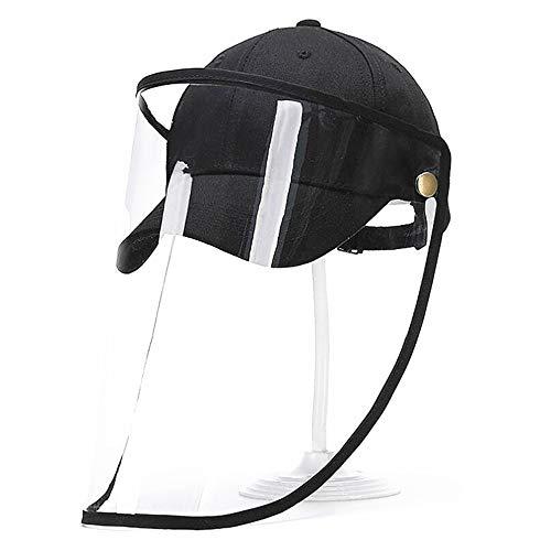 Santwo - Gorro de béisbol Unisex para Adultos con Visera Transparente antisol a Prueba de Polvo y Rayos UV para protección pública al Aire Libre Negro B-Gorra de béisbol Talla única