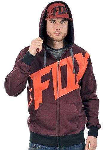 Fox Tainted - Sweat-shirt Homme - Zip rouge Modèle L 2014 sweat femme