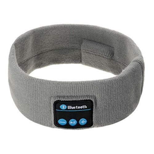 Banda para El Cabello Bluetooth Inalámbrico Bluetooth Música Diadema Auricular Auricular Mágico Sombrero Hombre Mujer Manos Libres Deportes Teléfono Llamada Responder Oídos-Libre-Gris