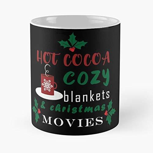 Desconocido Cocoa Christmas and Hot Movie Cozy Movies 2020 Taza de café con Leche 11 oz