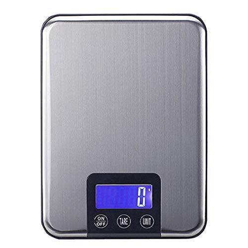 N \ A Báscula de Cocina Digital para Alimentos, 11 LB / 5 kg Báscula de Cocina en Gramos y onzas para cocinar, Hornear y Bajar de Peso, preparación de Comidas navideñas, Acero in