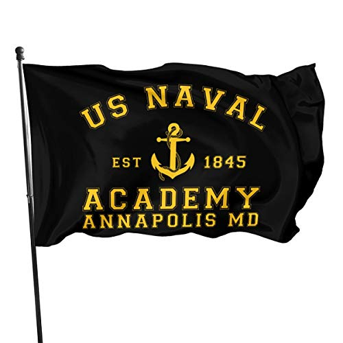 HOCLOCE US Naval Academy Flags 3x5 Ft, Vivid Color and UV Fade Resistant with Grommets Double Stitched