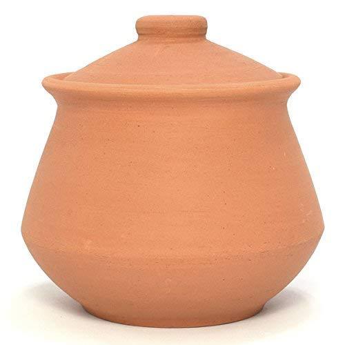 Ancient Cookware Indian Clay Yogurt Pot, Medium