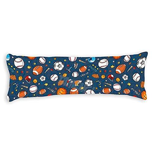 Tamengi Muchos guantes de baloncesto de béisbol y fútbol campeón fondo oscuro fundas de almohada con doble cara impresa 50 x 54 pulgadas