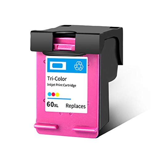 SXCD Cartucho De Tinta 60XL para Impresora HP Envy 100110 Deskjet F4280 2410 PhotoSmart C4780 4480, Cartuchos Compatibles De Alto Rendimiento con Chip Tri-Color 1