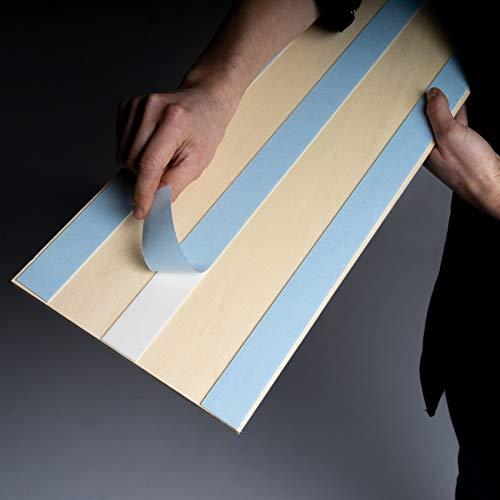 Sun Wood Stick-it Holz Wandverkleidung selbstklebend Altholz Design // Tirol 01 Wandpaneele zum Kleben Holzverblender 0,48m2 aus Fichtenholz - 3