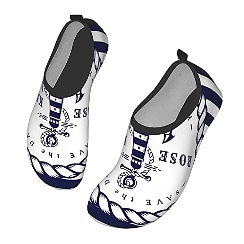 Nicokee Anchor Water Shoes Sailor Beach Rope - Calcetines de yoga para hombre y mujer, color, talla 41.5 EU