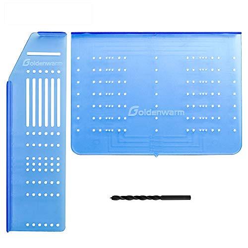 goldenwarm Griff Knöpfe Bohrschablone für Möbelgriffe Schrankgriffe,Schubladen Zug- und Knöpfe Montagewerkzeug TM160