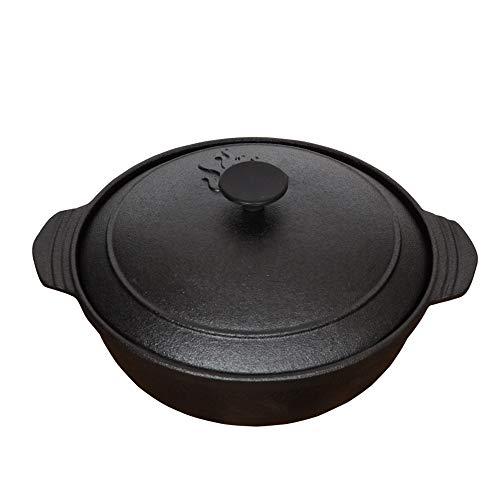 5-QuartCast Iron Dutch Oven, Hochleistungskochtopf, ohne Beschichtung Antihaftbeschichtet, griffiger Griff, zum Braten, Kochen, Backen, Grillen