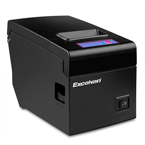 Excelvan Bluetooth 58mm Termico Ricevuta Stampante a Matrice per 83mm Diametro ESC POS USB per Android iOS Linux   Win2000   Win2003   WinXP   Win7   Win8   Win8.1   Win10 Nero