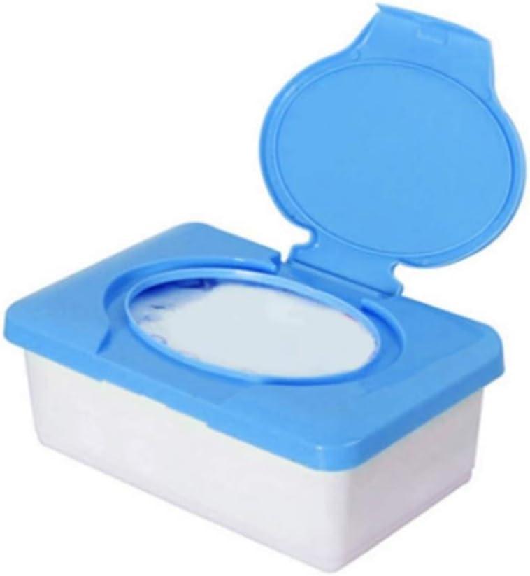 homeyuser Wet Tissue Box Holders Wipes Dispenser Wipes Napkin Storage Box Holder Container blue