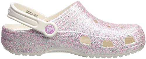 Crocs Kids' Classic Glitter Clog, Oyster, 10 M US Toddler