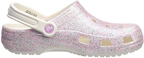 Crocs Classic Glitter Clog Kids, Zoccoli Unisex-Bambini, Bianco (Oyster 159), 25/26 EU